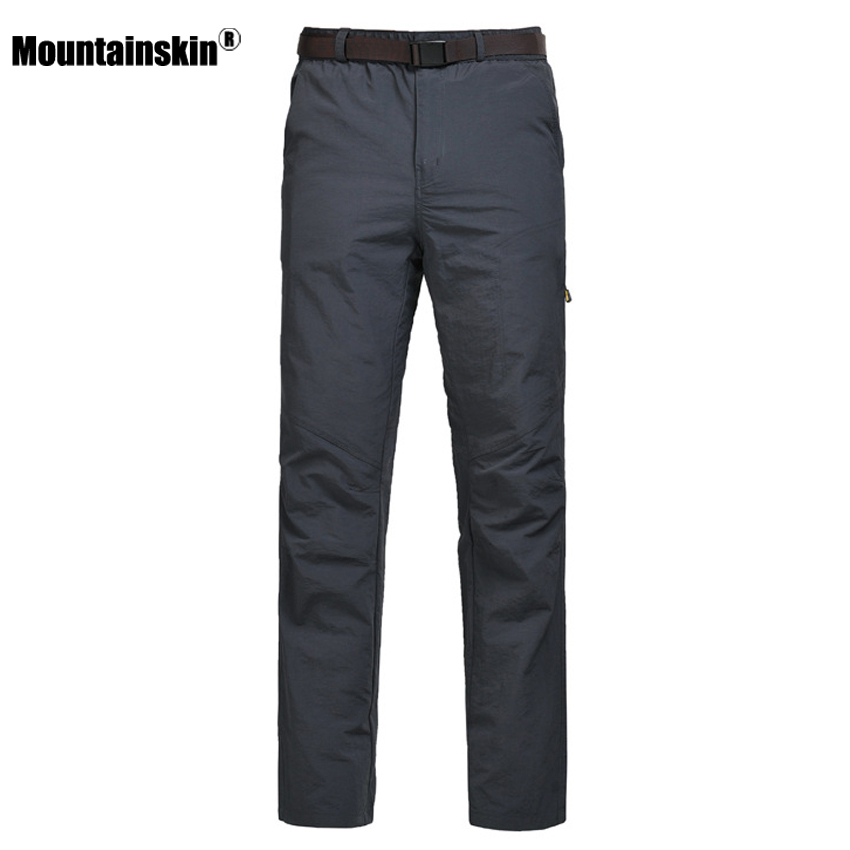 Mountainskin Men's Summer Softshell Quick Dry Fishing Sport Pants Outdoor Breathable Hiking Trekking Camping Male Trousers VA201