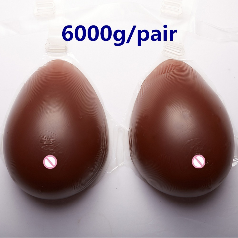 Buy Crossdresser Artificial Boobs 6000g/pair Huge Breast Form Silicone Breast Prosthesis Drag Queen Transgender Fake Breast