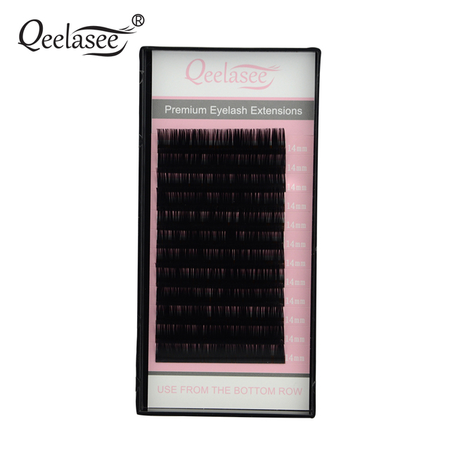Qeelasee 5 pz/lotto visone persona di estensione del ciglio ciglia trucco maquiagem cilios materiale Corea 8 18mm disponibile faux cils