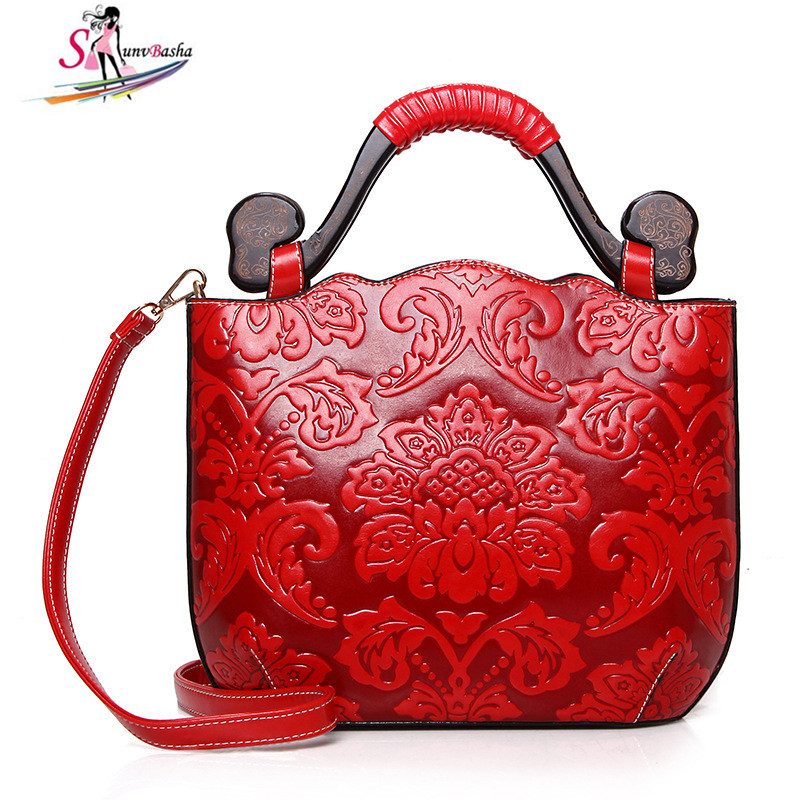 2017 new Tote handbags fashion national wind embossed PU leather ladies shoulder bag leisure Crossbody bag four color optional 2016 summer mix color cloth art shoulder woman bag leisure packages exclusively for export national bag