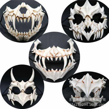 New The Japanese Dragon God Mask Eco-friendly and Natural Resin Mask for Animal Theme Party Cosplay Animal Mask Handmade 5 Types - DISCOUNT ITEM  40% OFF All Category
