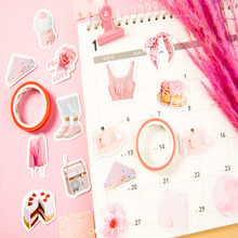 46Pcs/box Pink Girl please answer Mini Handmade paper sticker Diary  Scrapbooking Decorative DIY Stickers Stationery