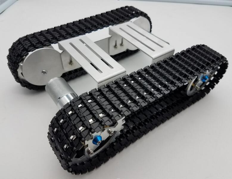 DIY Smart Shock-absorbent  Chassis Crawler Base Crawler Belt for RC Tank Robot Car A-04