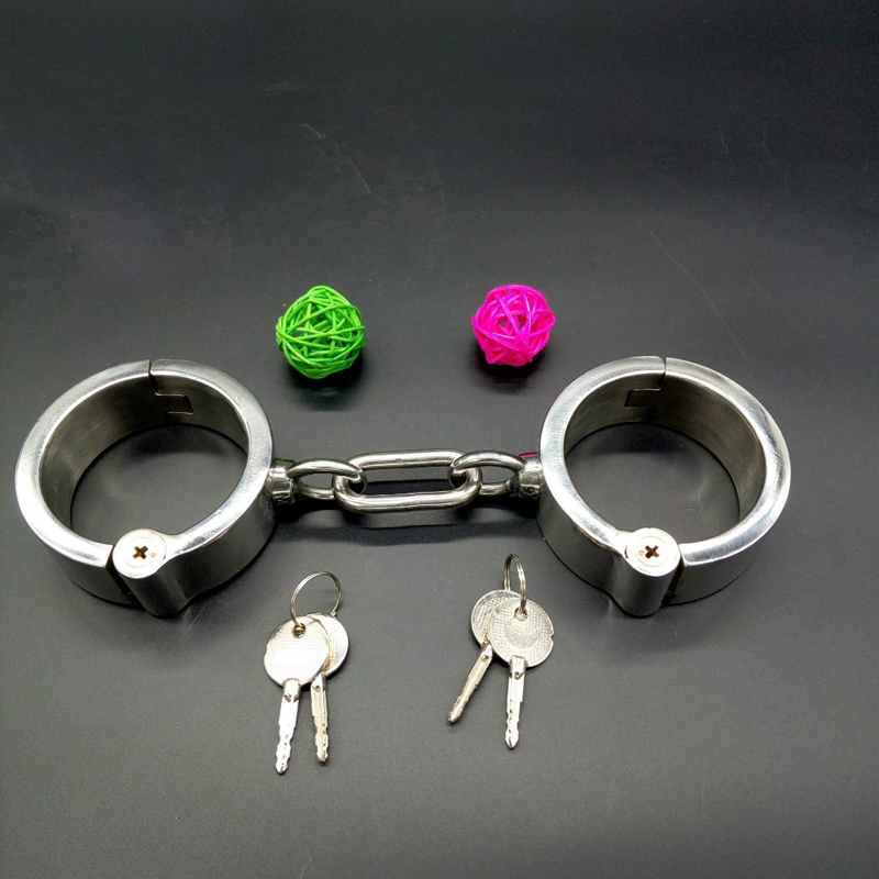 Handcuffs Sex tools for sale heigh 3cm Metal Sex Toys Stainless Steel sex Hand cuffs Locked bondage restraints erotic toys tri fidget hand spinner triangle metal finger focus toy adhd autism kids adult toys finger spinner toys gags