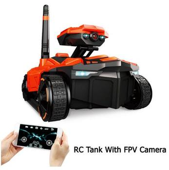 211 Wifi FPV 0.3MP HD Camera App Remote Control Tank RC Toy Phone Controlled Robot ABS Long Working Time Toys