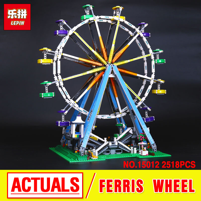 LEPIN 15012 City  Expert Ferris Wheel Model Building Kits  Assembling Block Bricks Compatible  10247 Educational Funny Toy boys 2478pcs lepin 15012 city expert ferris wheel model building kits assembling block bricks compatible with 10247 educational toys