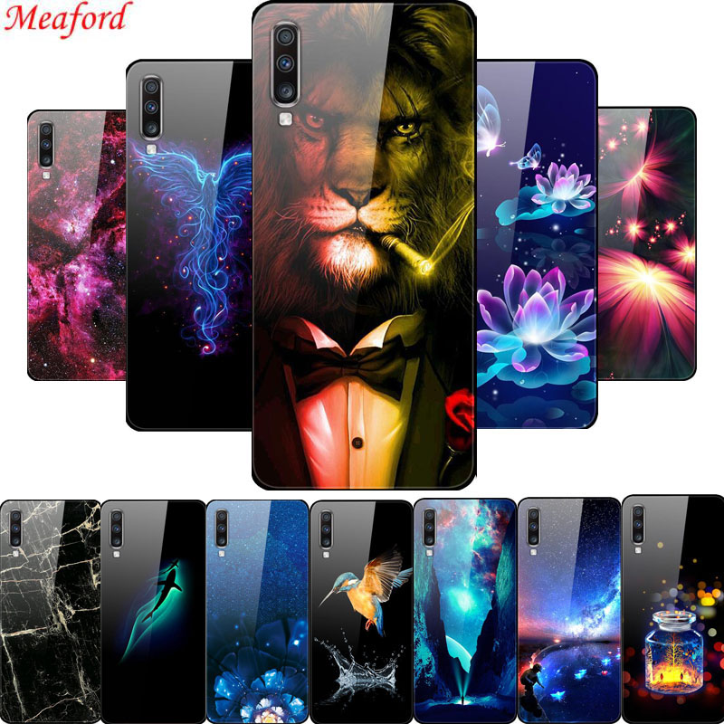 <font><b>Glass</b></font> <font><b>Case</b></font> For <font><b>Samsung</b></font> Galaxy A70 <font><b>Case</b></font> <font><b>A</b></font> <font><b>70</b></font> Back Cover <font><b>Case</b></font> For <font><b>Samsung</b></font> A70 2019 <font><b>Case</b></font> A50 <font><b>A</b></font> 50 A30S <font><b>A</b></font> 30S A50S Coque TPU Bumper image