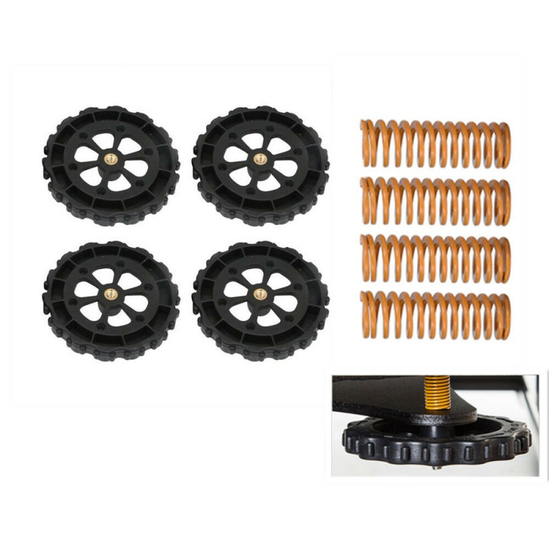 4pcs Hot Bed Spring For  Ender 3//5 CR-10 4pcs Creality Upgraded Leveling Nut