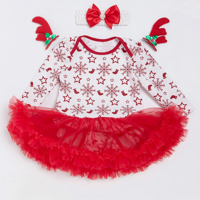a63f92204fdf Baby Costume Ball Gown Newborn Girls Bodysuit Dress Christmas Cotton 0-2  Years Baby Clothing New Spring Winter Tutu Dresses
