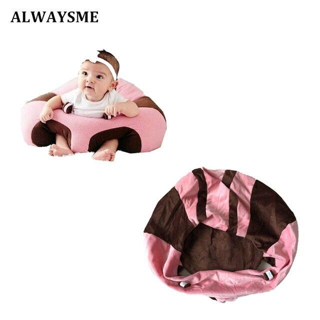 ALWAYSME asientos de bebé asiento de apoyo para sofá Silla de felpa para bebé aprendizaje para sentarse juguetes de peluche suave asiento de coche de viaje sin de relleno