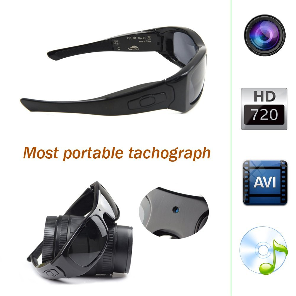 f225395ef8 Forestfish Bluetooth Sunglasses with Camera 8GB SD Card HD 720P Video  Recorder Camera Glasses Headset for IOS Android Smartphone-in 3D Glasses   Virtual ...