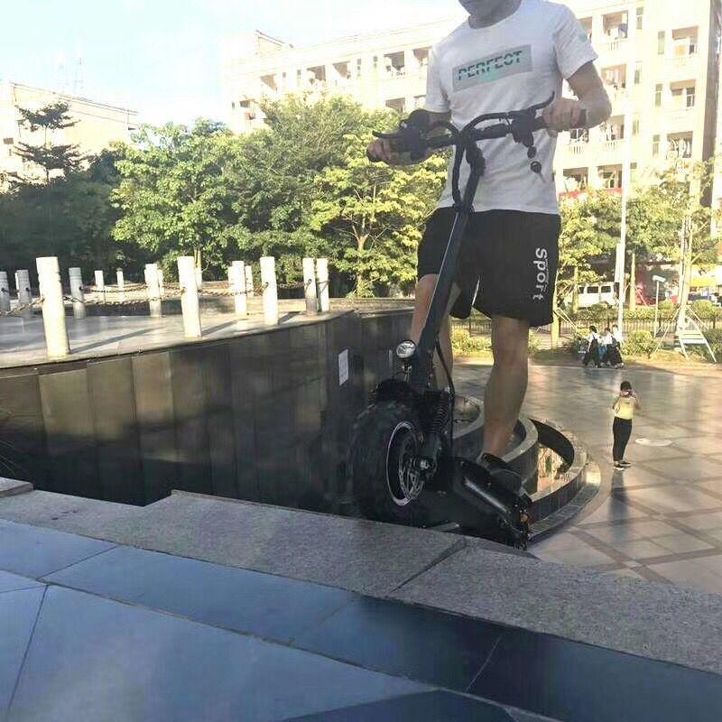 Trottinette électrique puissante 2 roues trottinette électrique debout planche à roulettes électrique adulte coup de pied trottinette électrique hoverboard - 2