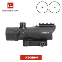 1x30SHR Tratical Red Dot Reflex Optical Sight For Hunting AK47 AR15 Hunting Rifle Scope With Bubble Level Red Dot Hunting Scope