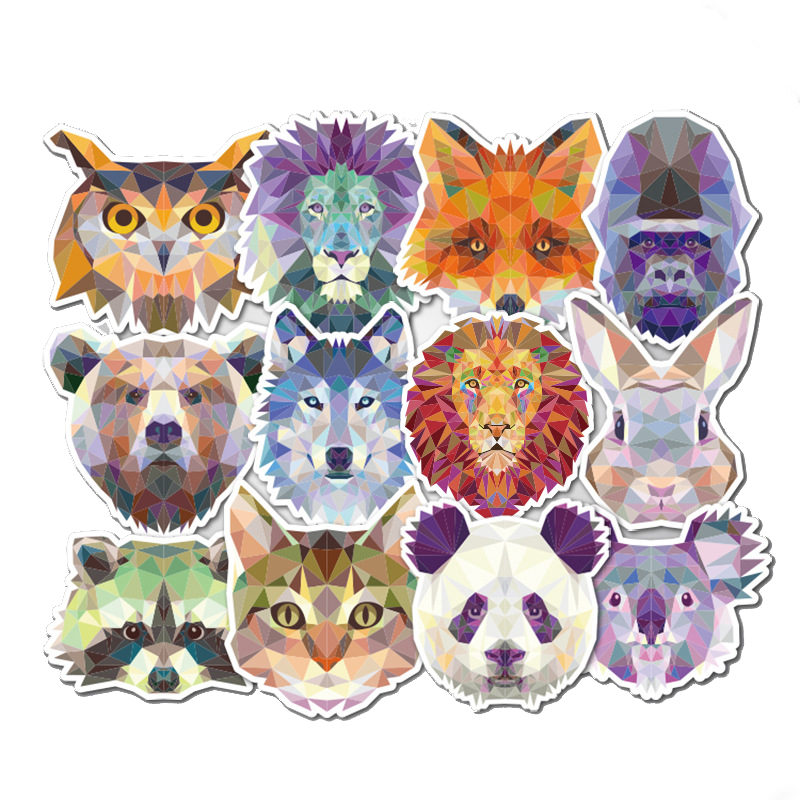 35Pcs Animal Stickers Geometry Galaxy Mixed Funny Cartoon Graffiti Decals Luggage Computers Cars DIY Waterproof Laptop Stickers