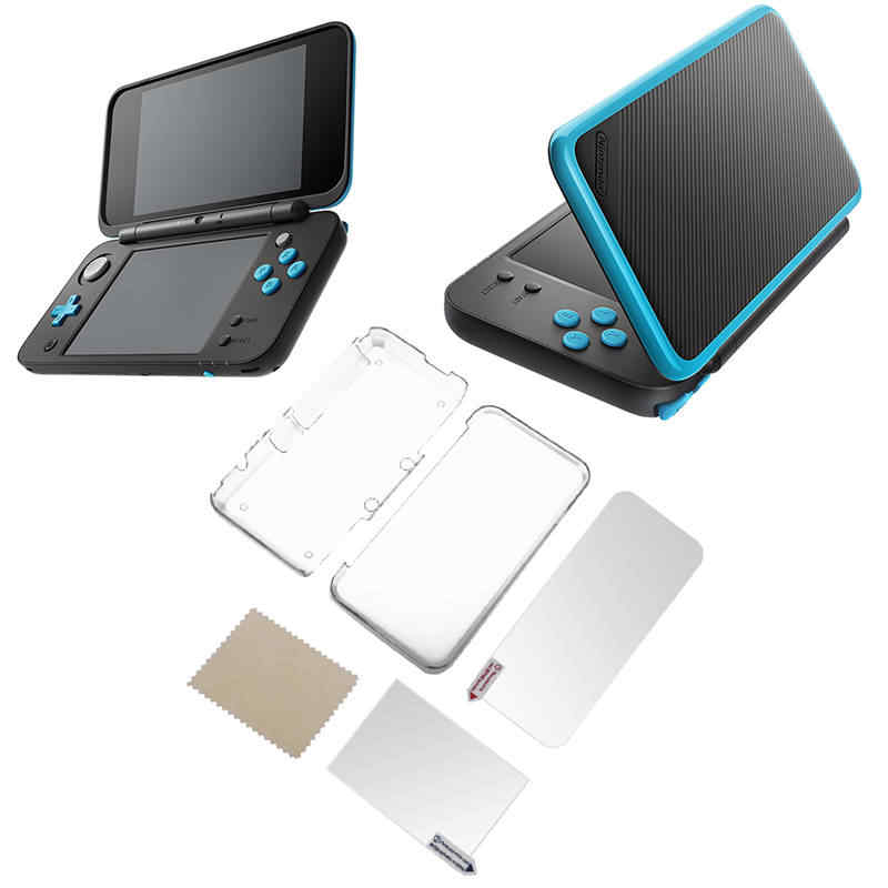 Transparent Protective Cover Case + Screen Film LCD Screen Protector for Nintendo NEW 2DS XL