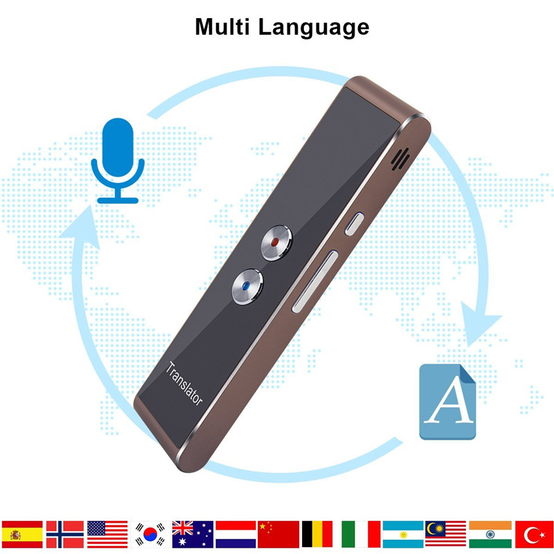 Protable Bluetooth Smart Voice Translator 33 Languages Travel Language Assistant Translation For Conference Meeting