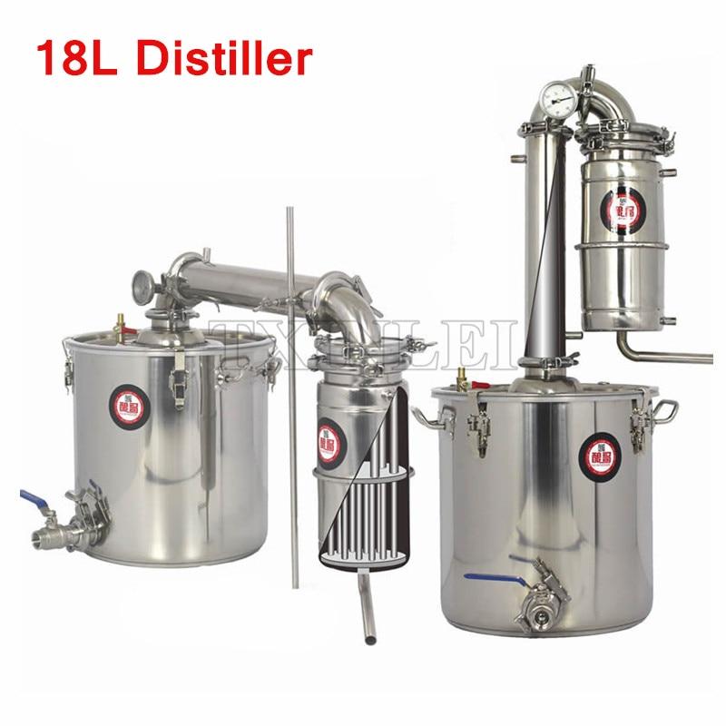 18l Stainless Steel Alcohol Distiller Liquor Wine Brewing