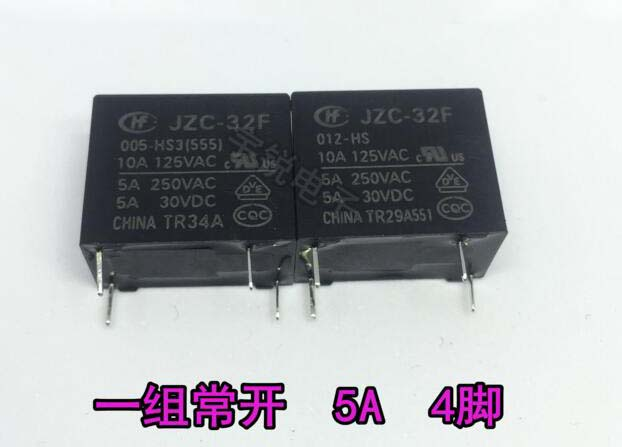 10pcs ORIGINAL 5VDC HF32F-G-005-HS JZC-32F-G-005-HS 10A 250VAC//30VDC POWER Relay