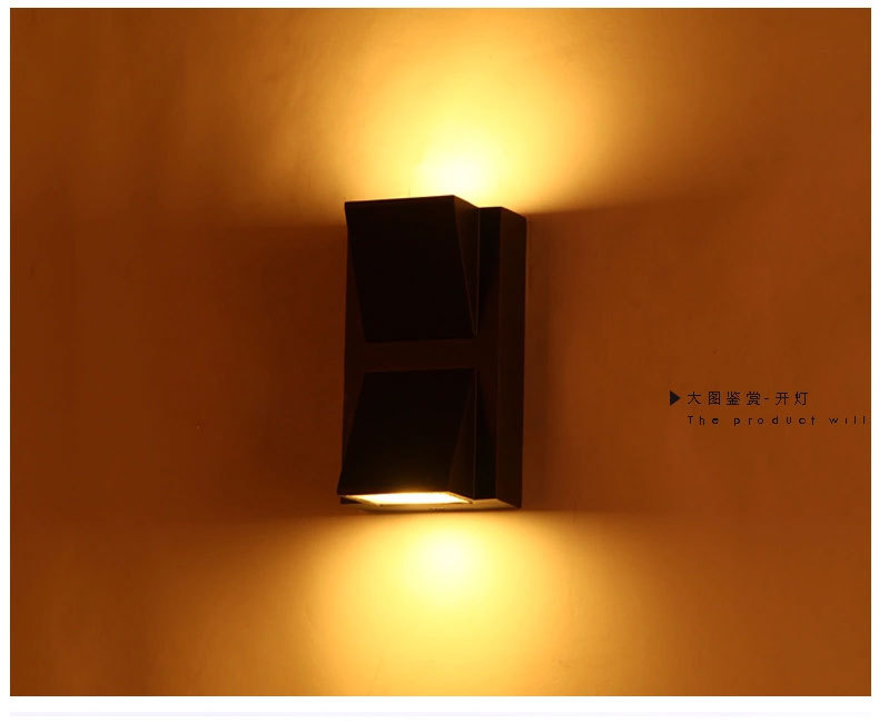 Modern outdoor wall lamp LED 2W Porch light garden decoration IP54 for home double wall sconce light fixture 1113 outdoor porch light waterproof ip54 modern wall lamp for home decoration garden wall sconce lighting fixture wholesale 2pcs lot