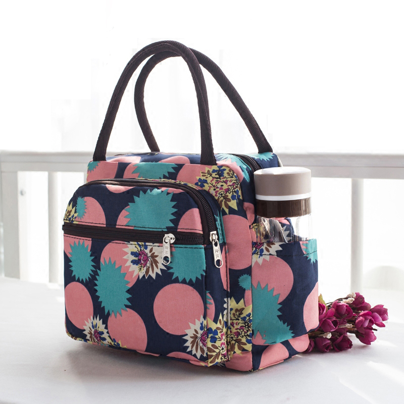 2019 Brand Food Fresh Keep Lunch Cooler Bag Waterproof Picnic Travel Storage Icepack Thermal Insulated Fashion Lunch Bags X1-26