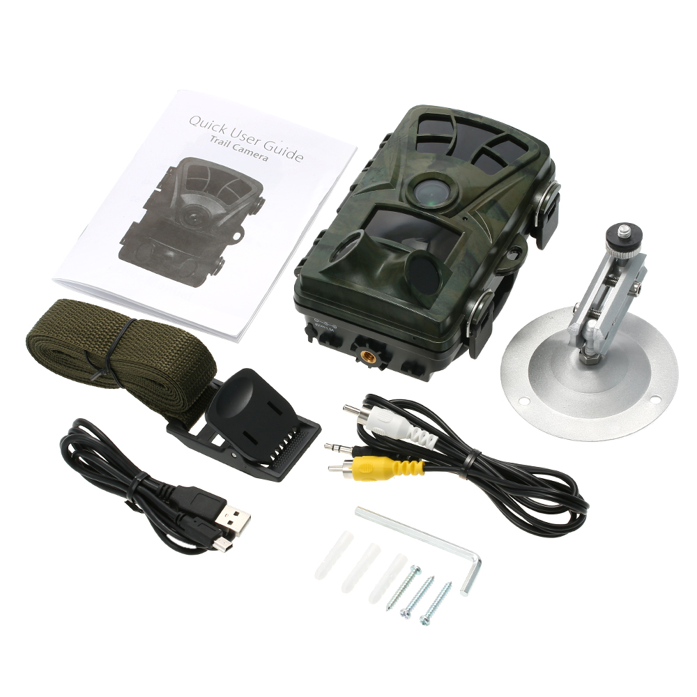 Hunting Trail Camera H885 HD 1080P Night Vision Scouting Camera Infrared Waterproof Wide Angle Wildlife Camera 8