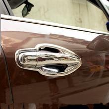 цена на ABS chrome door handle door bowl trim for 2014 15 16 PEUGEOT 2008 car-styling plastic plating trim film decorat cover stickers