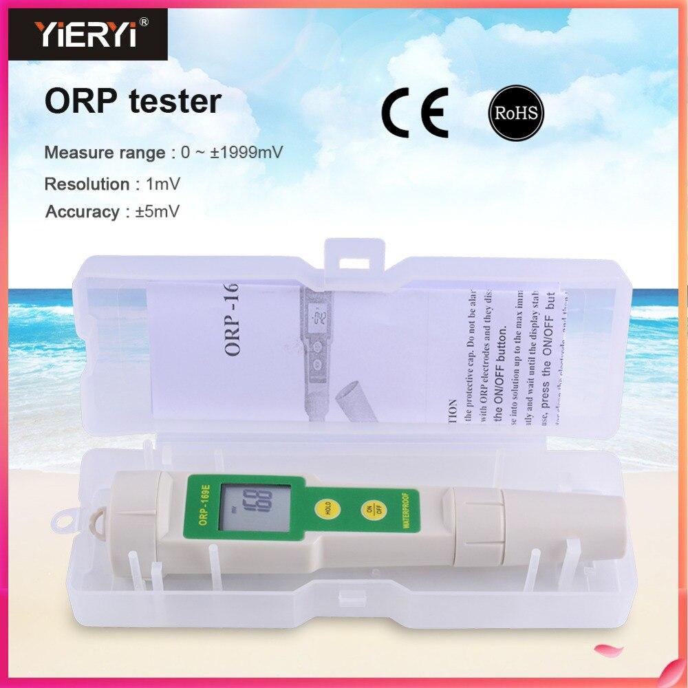 Yieryi 169E Profissional ORP/Redox Tester ORP medidor À Prova D' Água, ORP Testador 0 ~ +/-1999mV Qualidade Da Água Com Caixa De Plástico Branco