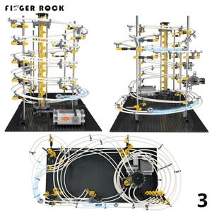 Image 3 - Nivel 1 2 3 4 DIY carril de espacio Montaña Rusa modelo de construcción Kits juguetes Spacerail montaña rusa de mármol recorrido de laberinto de bolas juguete para regalo