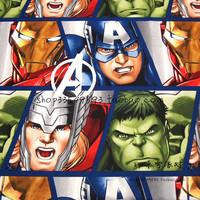140X100cm The Avengers Facial features Hulk Captain America Cotton   Fabric   for Boy Bedding Set Sewing Hometextile DIY-AFCK380