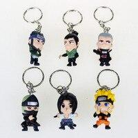 8 sztuk Zestaw Naruto SASUKE Breloki/GAARA/HINATA Figures Key Ring