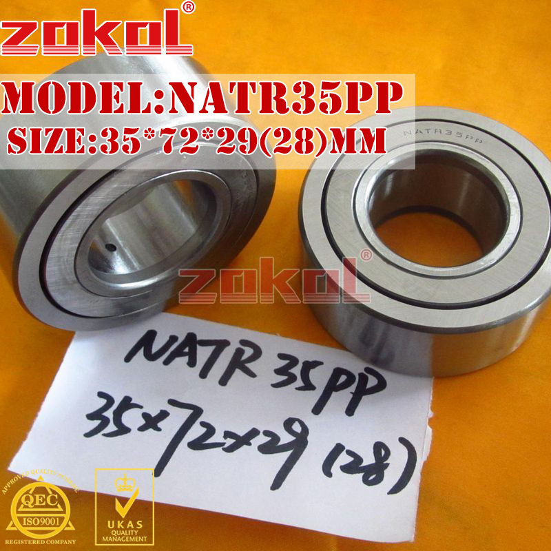 ZOKOL bearing  NATR35 PP NATR35PP Yoke Track Roller Bearing 35*72*29(28)mm na4910 heavy duty needle roller bearing entity needle bearing with inner ring 4524910 size 50 72 22