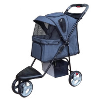 Top Sale Large Capacity Pet Stroller Three Wheels Cat Stroller Breathable Pet Carrier Dog Car Carriers