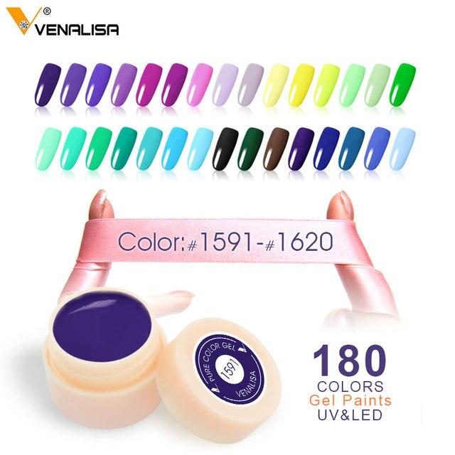 CANNI живопись Цвет гель Новый 180 Цвета 5 мл банку чистой Цвета Лаки ногтей Книги по искусству салон рекомендуется Замочить UV светодиодный ногтей гель Цвет краски