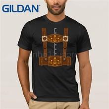 37b98a84 GILDAN Oktoberfest Funny Lederhosen Bavarian T-Shirt sun men T-shirt(China)