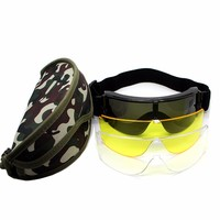 Black Frame Adult Snowmobile Ski Goggles Protective Glasses With Case Outdoor Motorcycle Bicycle Cycling Sunglasses Eyewear