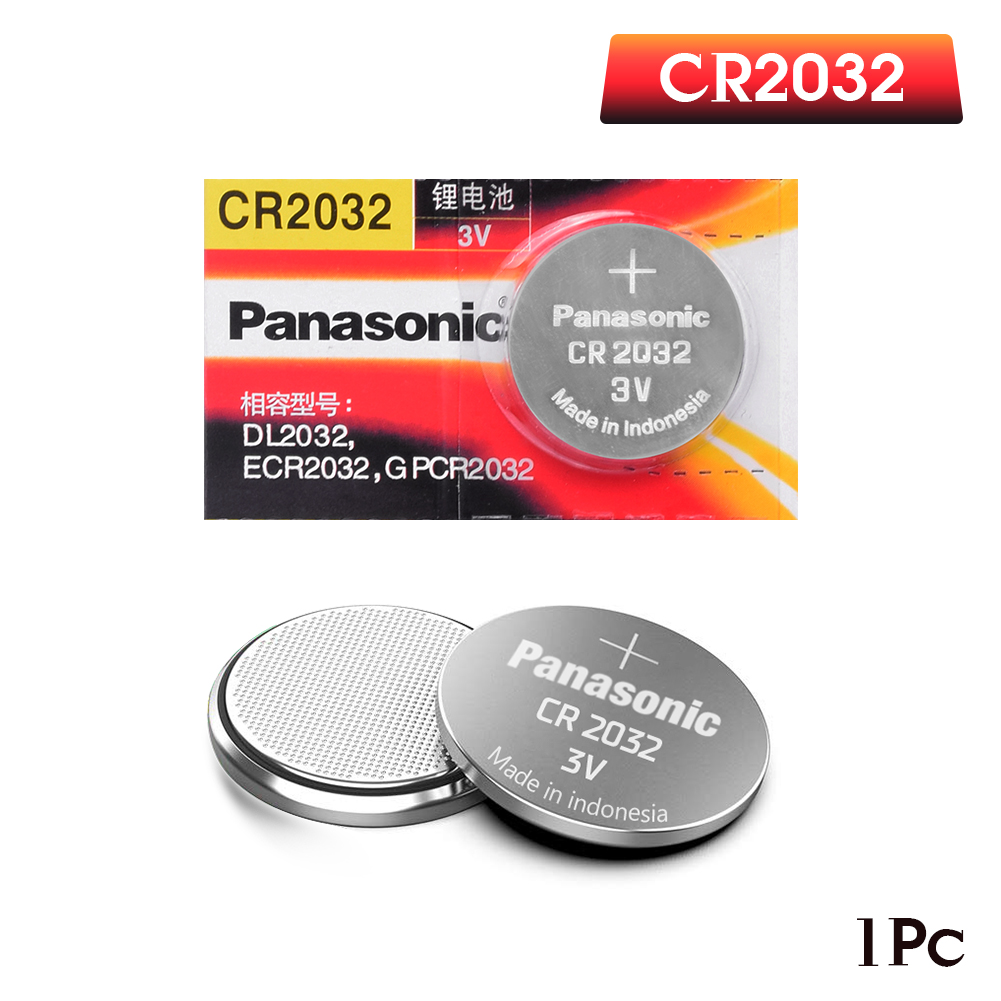 PANASONIC 1pc original cr2032 DL2032 ECR2032 5004LC KCR2032 BR2032 3v button battery coin remote control toy in Button Cell Batteries from Consumer Electronics