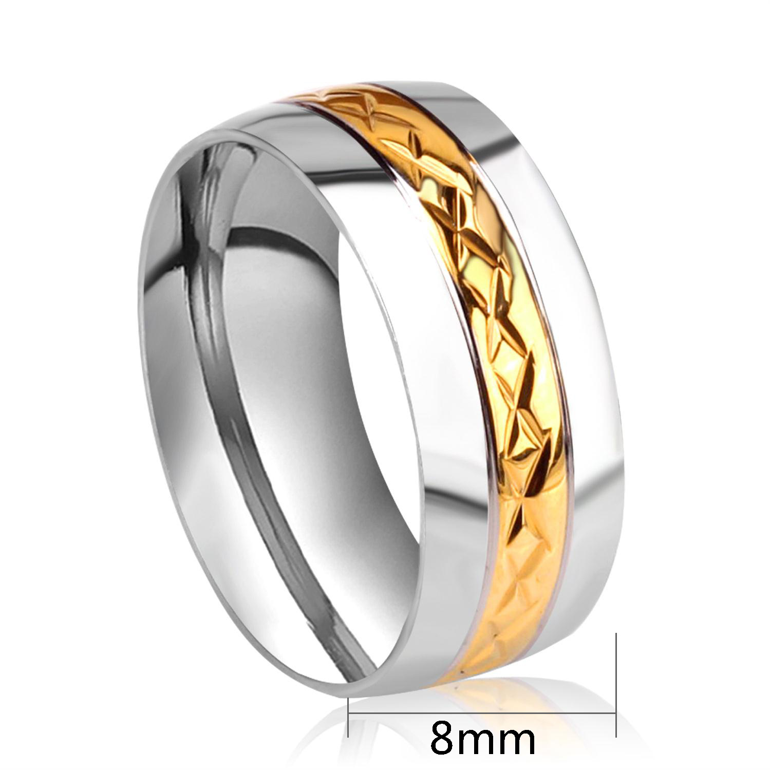 Aliexpress Buy Simple Wedding Bands Rings Gold Color