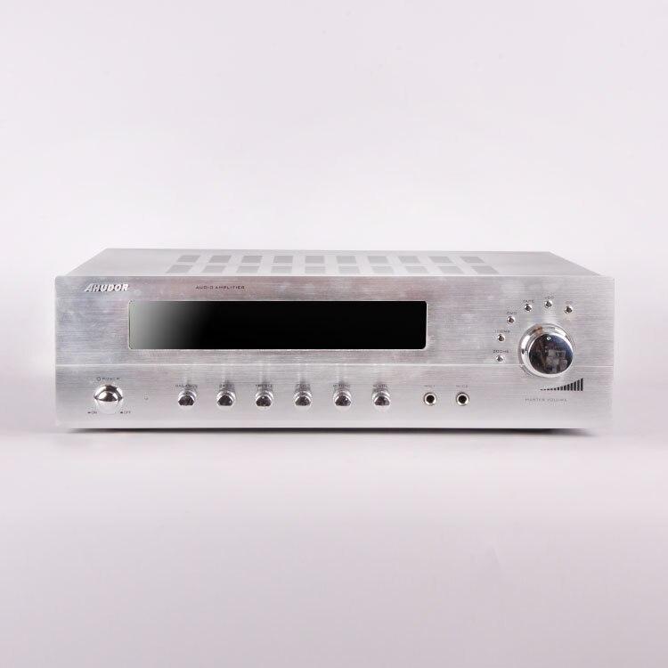 2018 DS9702 aluminum alloy KTV audio amplifier home karaoke professional high power home computer HiFi amplifier high power amplifier ktv professional stage amplifier broadcast speaker amplifier p2500s