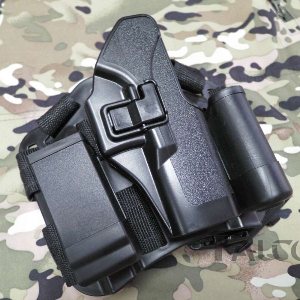 Blackhawk CQC Glock 17 19 23 32 36 Holster Platform Tactical Hunting Gun Thigh Holster