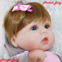 17 pulgadas 43 bebé chica muñecas de silicona elefante ropa de bebé recién nacido muñeca l o l bebe reborn Niña de silicona Niña