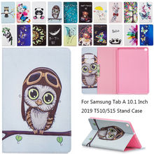 For Samsung Tab A 10.1 inch 2019 T510 T515 Cute Panda Leather Fundas Case For Samsung Tab A 10.1 SM-T510 T515 Tablet Cover Case