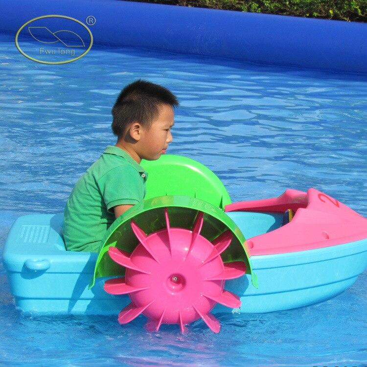 Nouveau bateau à main en PVC épaissi Mini bateau à main pour piscine peu profonde jouets d'eau de divertissement pour enfants 20 kg portant 98*64*23 cm