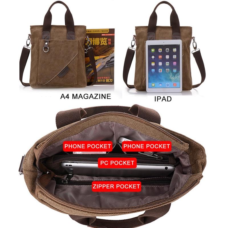 Plátno Aktovka Multifunkční Jedno rameno Ramena Crossbody tašky - Aktovky - Fotografie 3