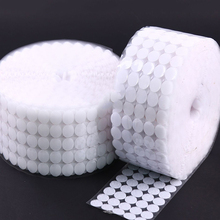 100Pairs 10/15/20/25/30mm Strong Self Adhesive Fastener Tape Dots Glue on Hooks and Loops Sticker White Black Disc Coins Magic