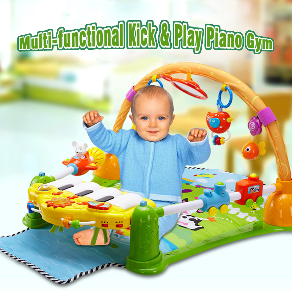 3 in 1 Infant Toddler Climb Crawling Mat Baby Activity Playmat Gym Toy Soft Play Mat Baby Fitness Carpet Educational Rack Toys