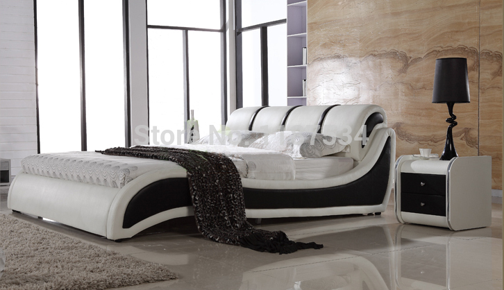 Large king size soft bed PU+PVC leather soft bed C385 smoby детская горка king size цвет красный