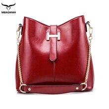 2016 Women Bag Red Chain Strap Top-handle Bag Famous Designer Brand Big Capacity Lady Leather Messenger Shoulder Crossbody Bag