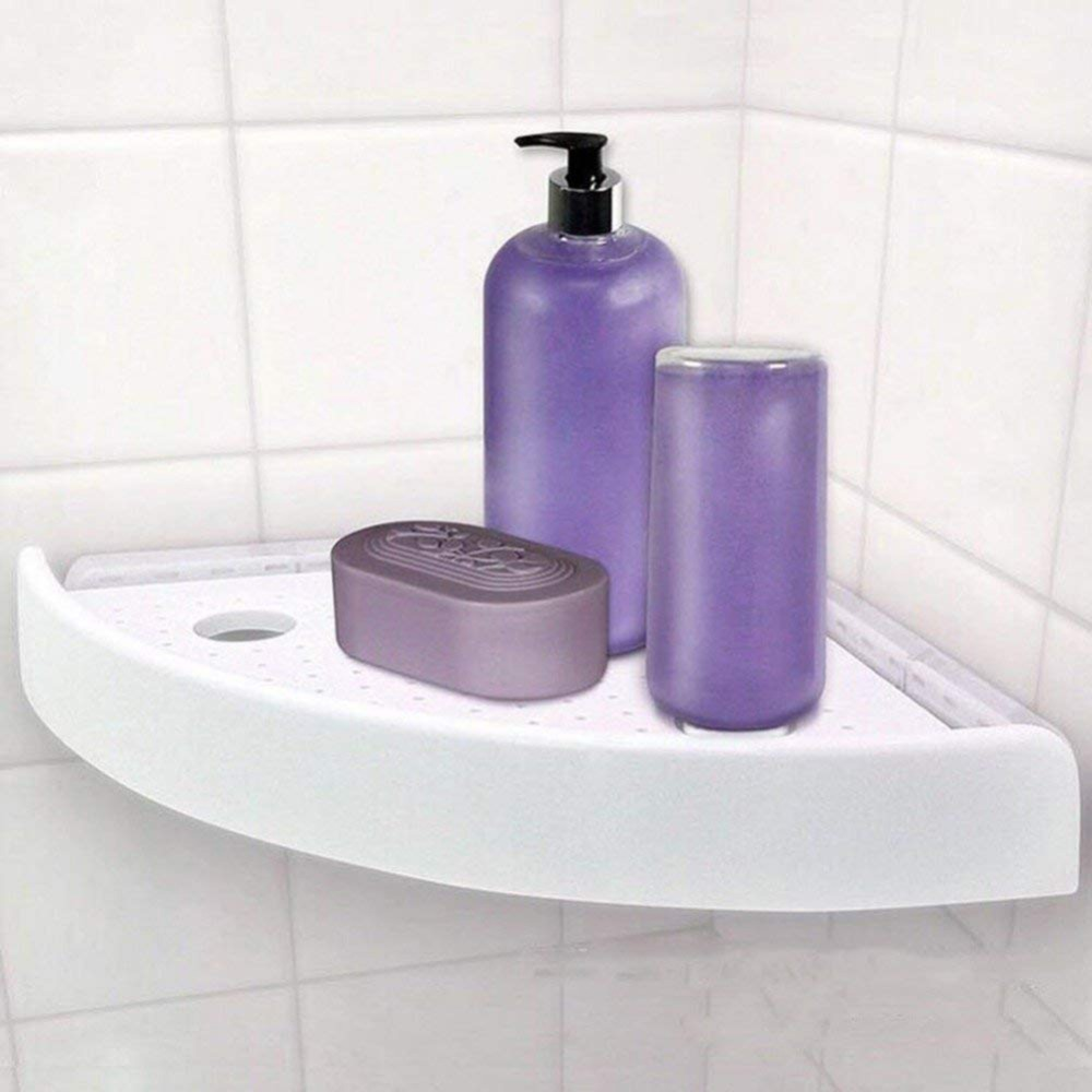 Bathroom Shelf Qrganizer Snap Up Corner Shelf Caddy Bathroom Plastic Corner Shelf Shower Storage Wall Holder Shampoo Holder