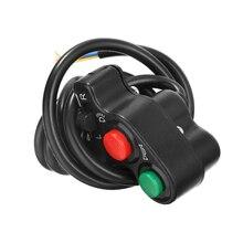 Работающего на постоянном токе 12 В в байкерском стиле 3 в 1 звуковой сигнал указателя поворота светильник настенный выключатель для 7/8 22 мм руль