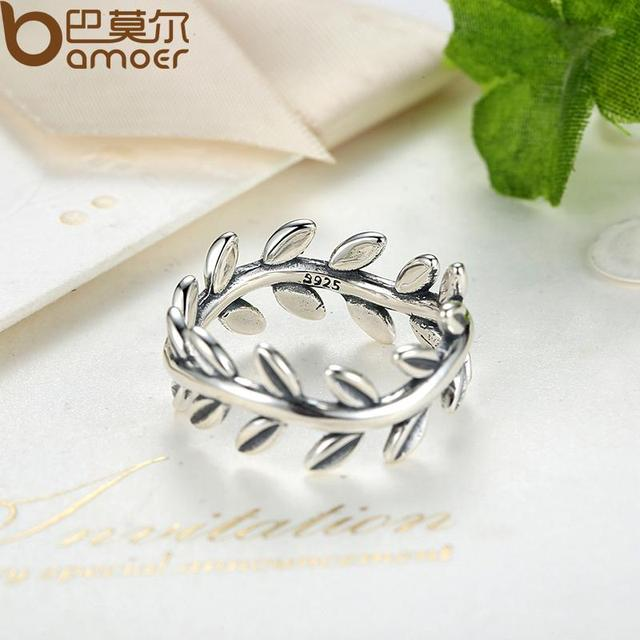 Sterling Silver Laurel Wreath Laurel Leaves Ring